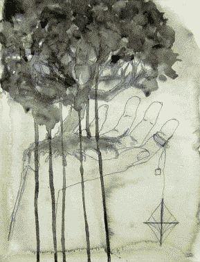 tree and hand